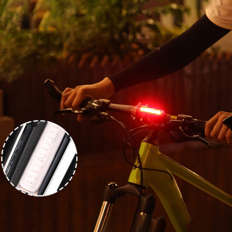Goofy Valley Mountain Bike Taillights USB Charging LED Warning Lights Night Red And Blue Light Riding
