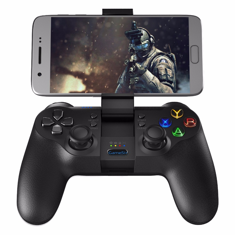 GameSir T1s Bluetooth Oyun Kontrolörü Kablosuz Gamepad Android Smartphone Tablet için/PC Windows/Buhar/Samsung VR/TV Kutusu